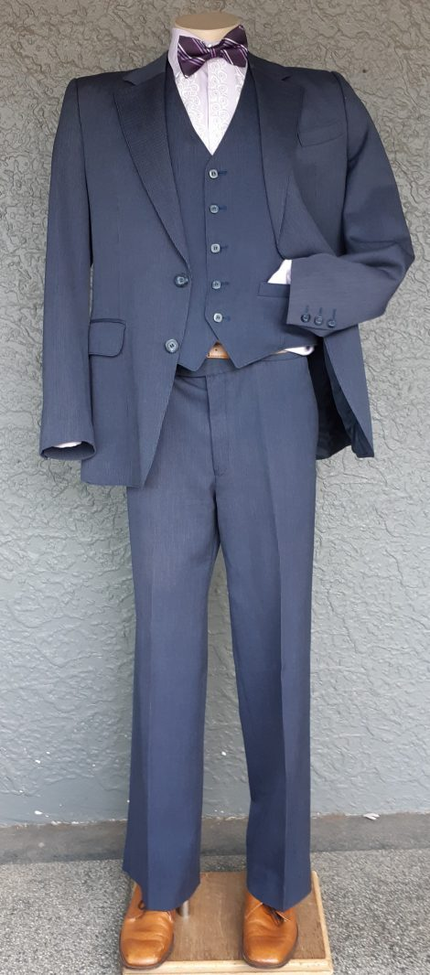 "1970's 3 piece suit by 'Flair' size L, 36"""
