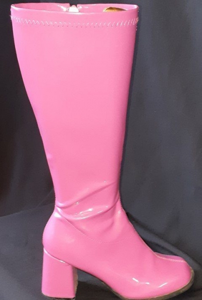 Knee High boots by 'Elle', hot pink, size 9