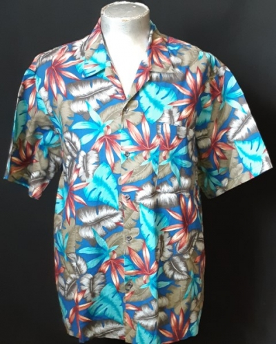 Hawaiian shirt, Blue jungle, by 'Hawaii Blues', size 2XL