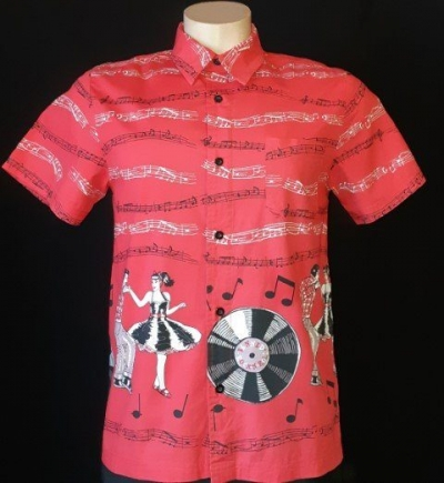 Rock-n-Roll cotton shirt by 'Banned Apparel' size S