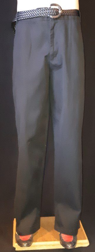 """Black cotton drill baggy trousers by 'Marceli' size 38"""""""