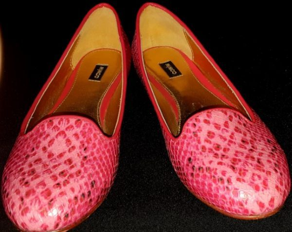 Mimco Hot Pink Leather ballet flat, size 7