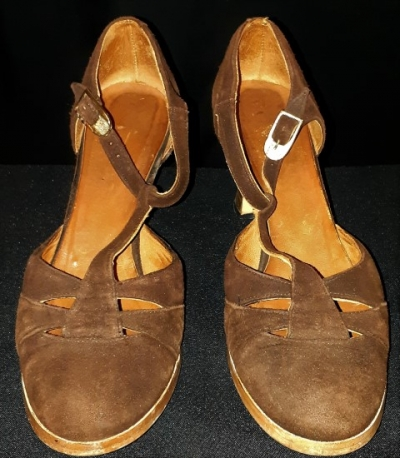 Suede Mary Jaynes by 'Sportsgirl', Chocolate brown, size 8