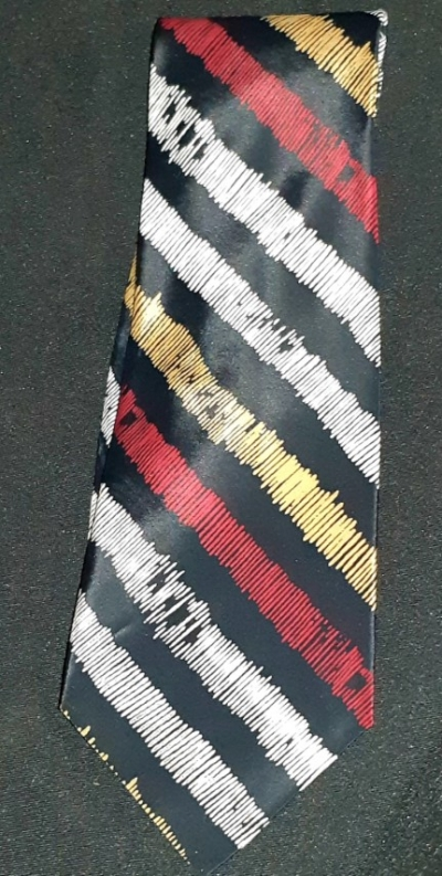 1980's polyester striped tie by 'Cellini'