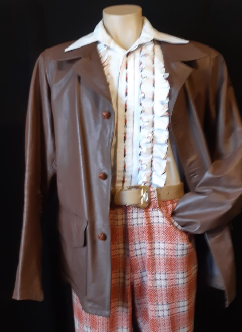 1970's Brown leather 3/4 length Jacket, size XL-2XL