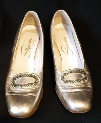 Gold Patent Leather Heels, 1970' by 'Westbrook for David Jones', size 8.5B