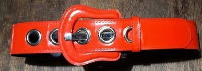 Red PVC belt, S-M.