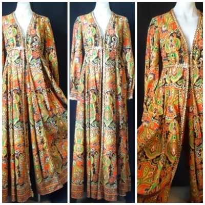 Paisley jumpsuit, 1970's, brushed cotton, USA,