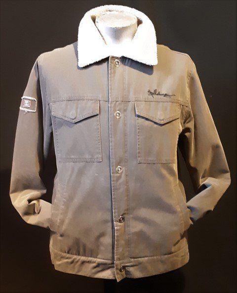 Billabong Khaki Military look bomber jacket, Cotton/acrylic, size L