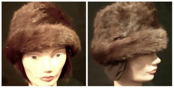 Fur & wool Kosack hat, 1970's, size S