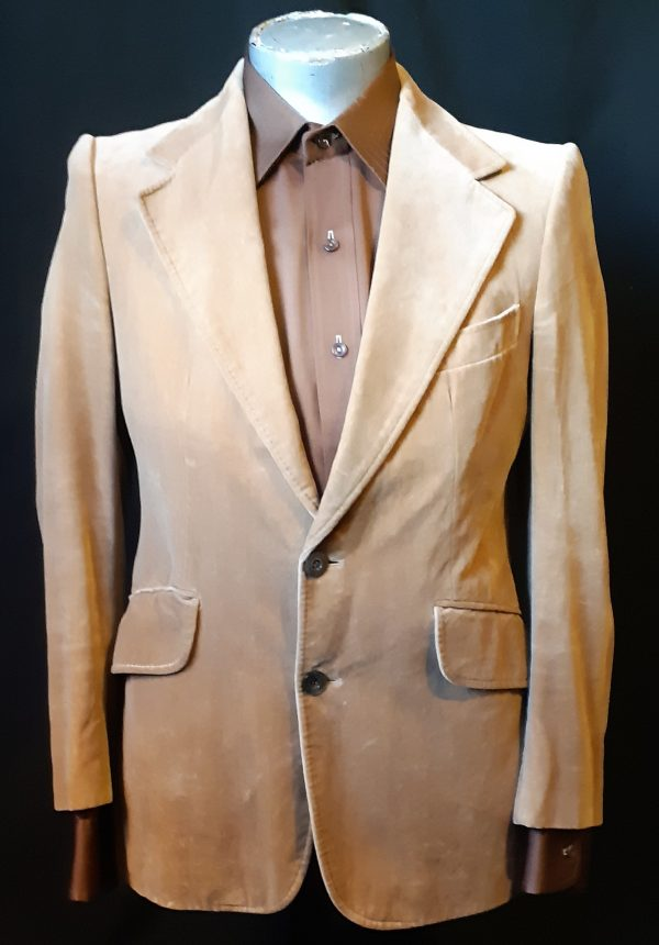Velvet Blazer, 1970's by 'Niedieck', West Germany, size M