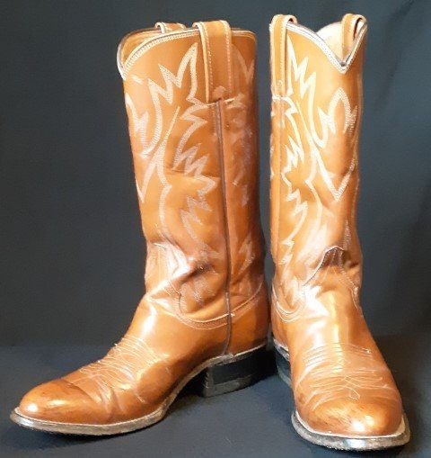 Western 'Cowgirl' leather boots, by 'Justin', USA size 4.5C