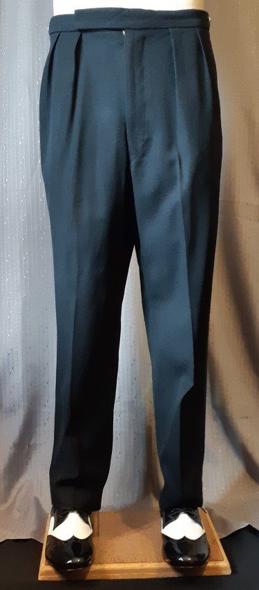 Tuxedo Pants, Black, wool/polyester by 'Willerby's Oxford Street', size 34""