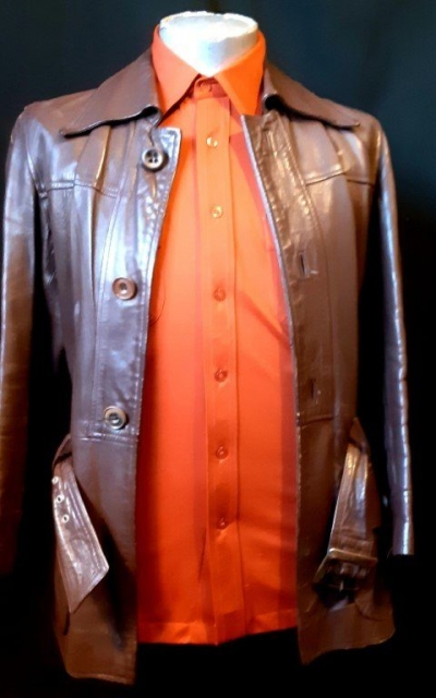 1970's Chocolate brown Leather jacket, 'Don Lorenza of Spain' size S- M