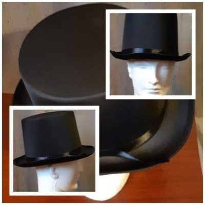 Black top hat by 'Carnival Products', polyester, XL