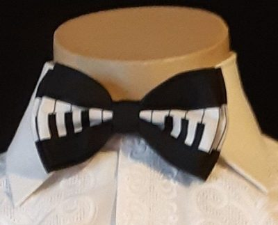 Bow tie, keyboard print, polyester, USA