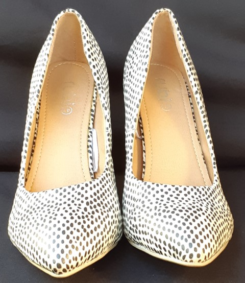 Leopard print court shoes by 'Rubi', synthetic, size 41