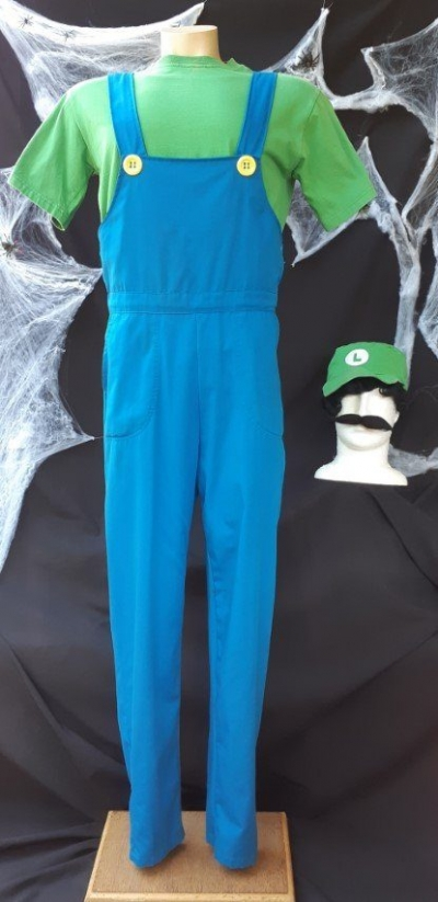 'Mario Bros Luigi' Deluxe costume, poly/cotton size M