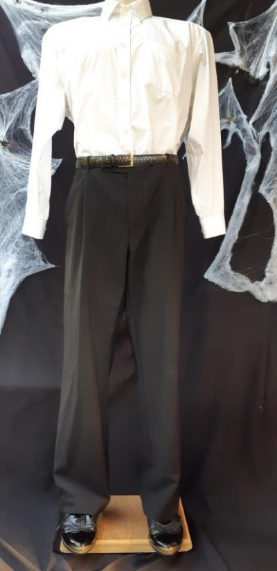 "Black pants, Wool/polyamide, size 42"""