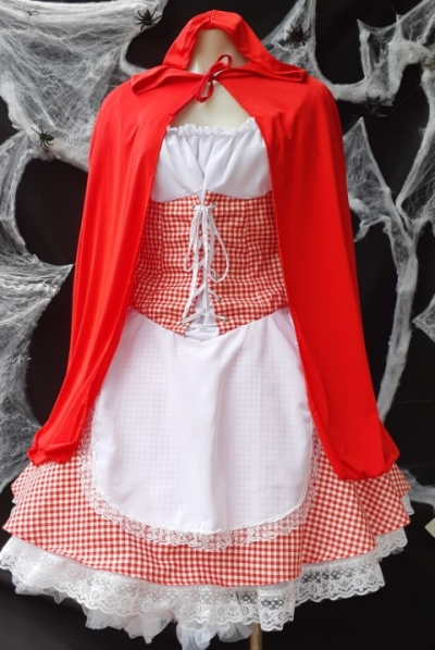 Little Red Riding Hood Costume, dress and cape, size 10-12