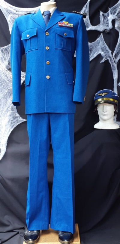 'Major Nelson' uniform/ costume, poly/cotton, includes hat and tie, size L-XL
