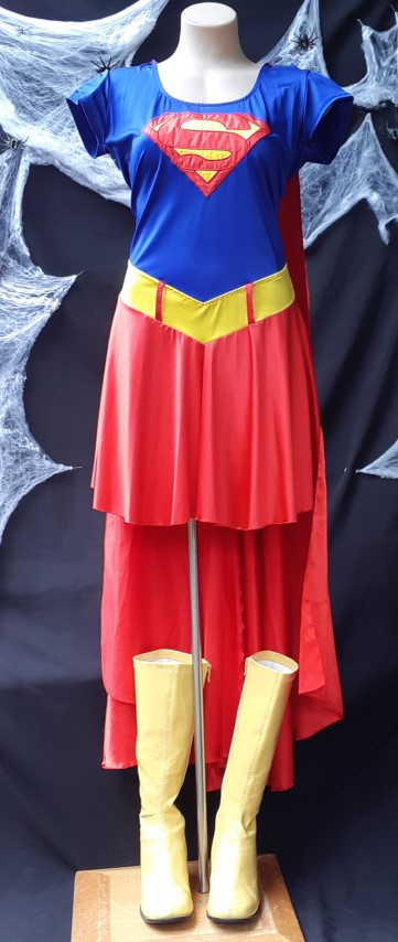 Super Girl inspired Costume, Polyester, size 12-14