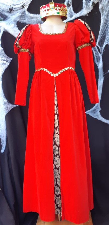 Disnney Princess Aurora inspired Gown with crown, Velvet, size 10