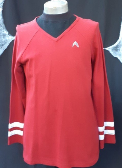 Star Trek inspired top, red, cotton twill, size M