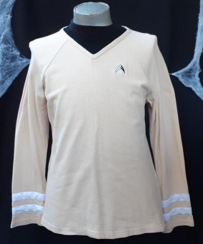 Star Trek inspired top, beige, cotton twil, size S