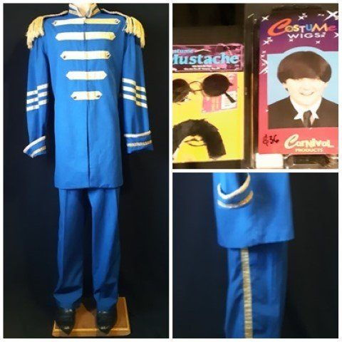 'St.Peppers, Paul' suit, poly/cotton, with wig, sunnies and mustache, size 3XL