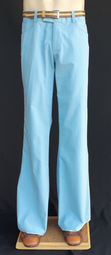 Hipster Flared pants, light blue, cotton/poly by 'Chenaski of Germany' size M-L