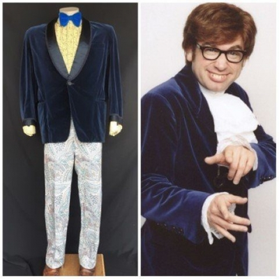 Original Velvet Smoking jacket, navy, by 'The Little House Of Treasure' Adelaide, size L -XL