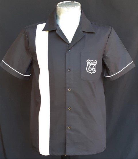 Bowling Shirt 'Route 66', by 'MyJuJu Dance Fever, cotton.