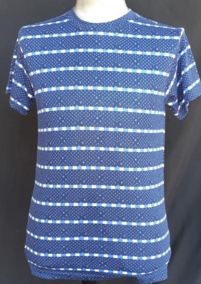 Retro Tee, blue, poly/cotton, by 'Chenaski' new.