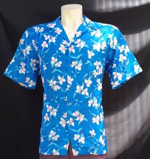 Hawaiian Shirt, Made in Hawaii by 'Hito Hattie' size XL