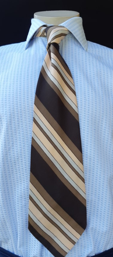 1970's Wide tie, striped, polyester by 'Austico'