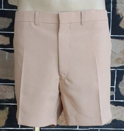 1970's Shorts, Caramel, polyester by 'City Club' size 38""