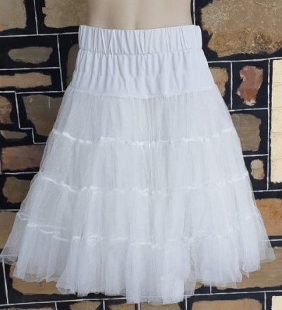 White tulle petticoat, by 'Dolly & Dotty', polyester, size 6-12
