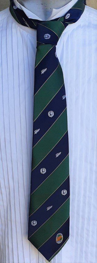 The Australian Rugby tie, by 'Play Bill Merchandising', polyester, green/navy
