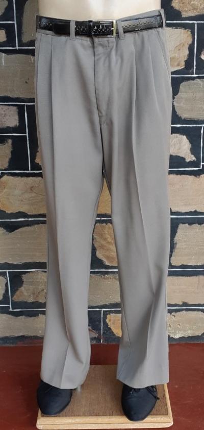 "1980's Front pleat pant, light khaki, gaberdine, by 'New England Pant Company', size 35"""