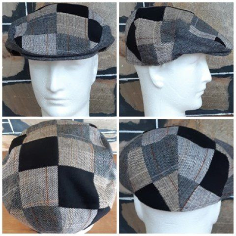 Country Flat Cap by 'Avenel Hats', large checks, wool/polyester, size XL