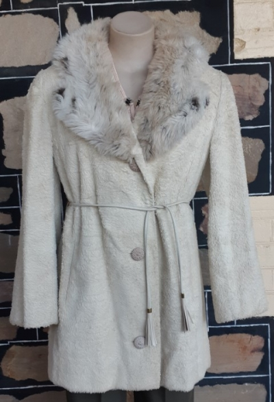 Faux Fur 3/4 length coat, 1960's, by 'Stylex', size 12