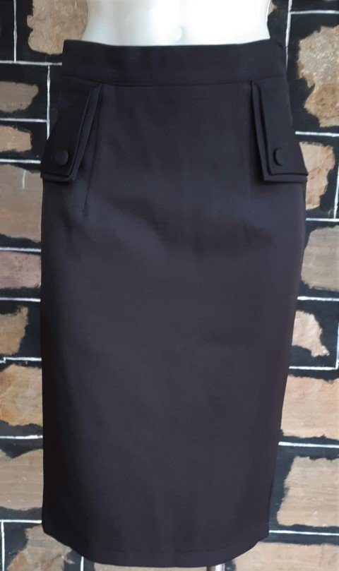 Pencil Skirt, Black, by 'Banned Apparel', polyester, size XS
