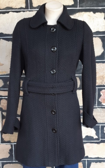 Trench coat, Black, polyester/ viscose, Size 10