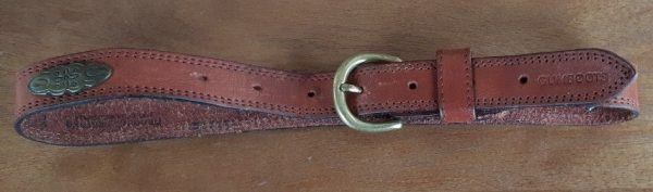 Leather belt, 1970's, brass buckle, Tan, Made in Australia by 'Gumboots', size XS