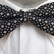 Bow tie, Black/white, polyester by 'Jon Vandyk of Holland'