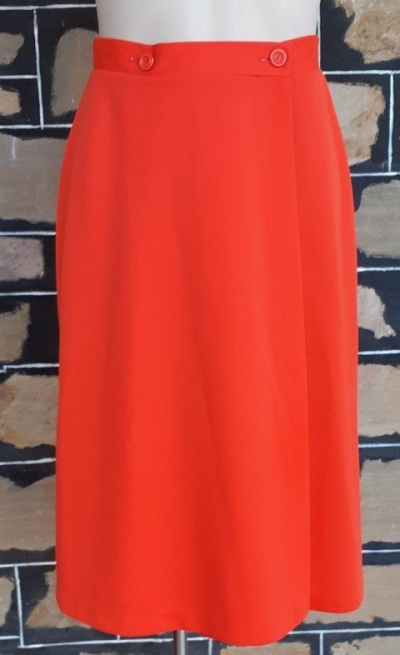 Wrap skirt, polyester, Red, by 'Target' 1970's, size 10-12