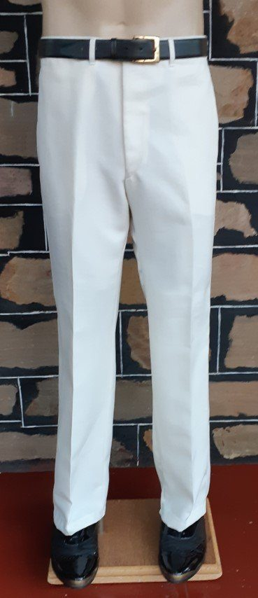 """'Gatsby inspired' Cream pants, bowling/cricket, polyester by 'City Club' size 38"""""""