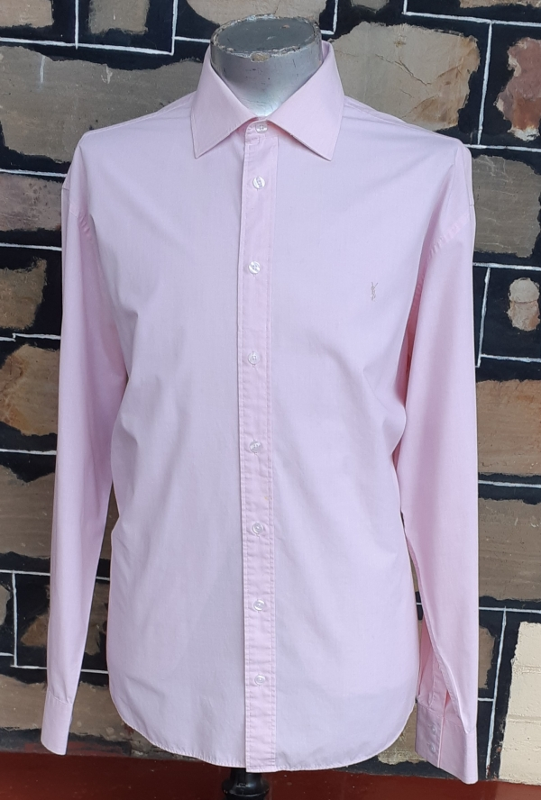 'Yves Saint Laurent' casual shirt, pink, ploy/cotton, size 3XL
