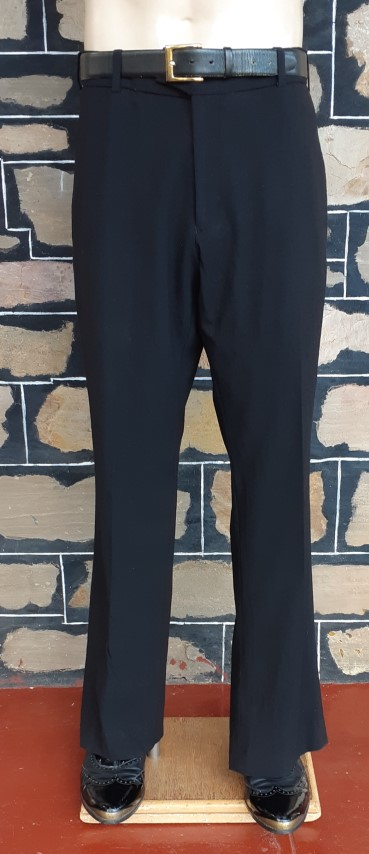 """1970's Black trousers, Wool/Lycra by 'Limehaus' USA imported, size 38"""""""
